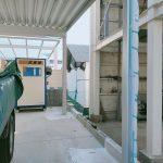 熊本県熊本市、カーポートアルミ支柱のキズ及び凹みリペア補修