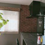 熊本県熊本市、戸建て住宅、キッチンブリックJ補修、リペア