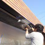 熊本県熊本市、戸建て住宅ガレージ、板金、へこみ修理・塗装リフォーム